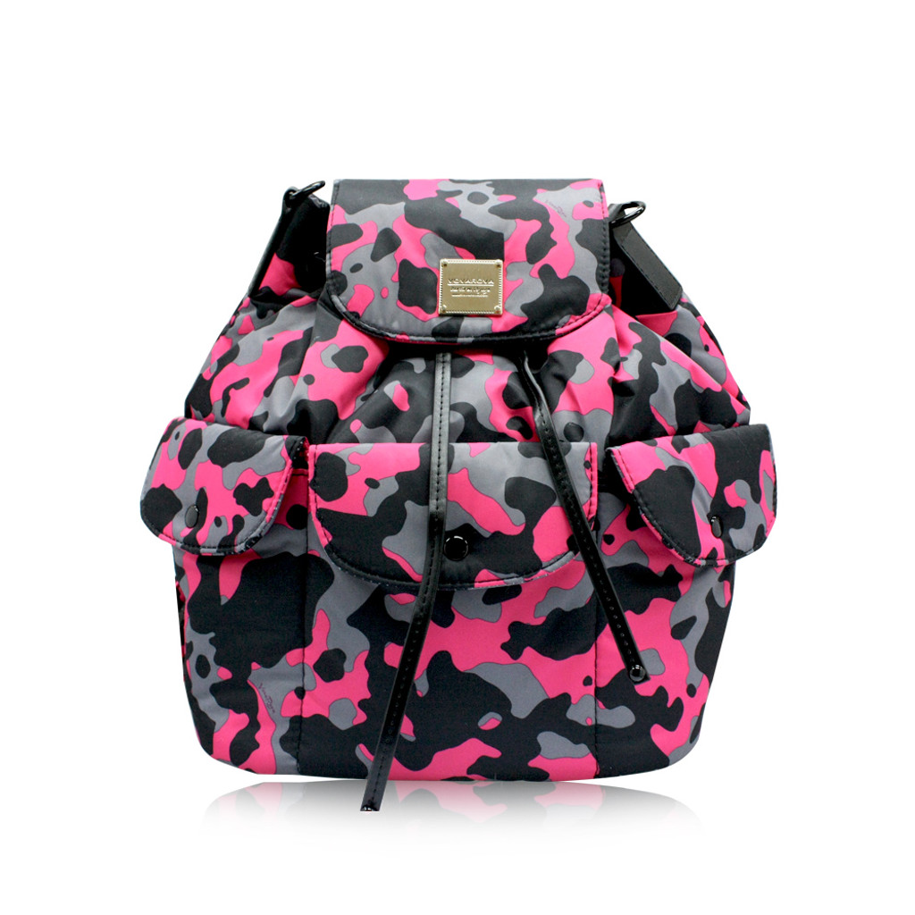2 way Drawstring Hobo Bag - CAMO CHIC