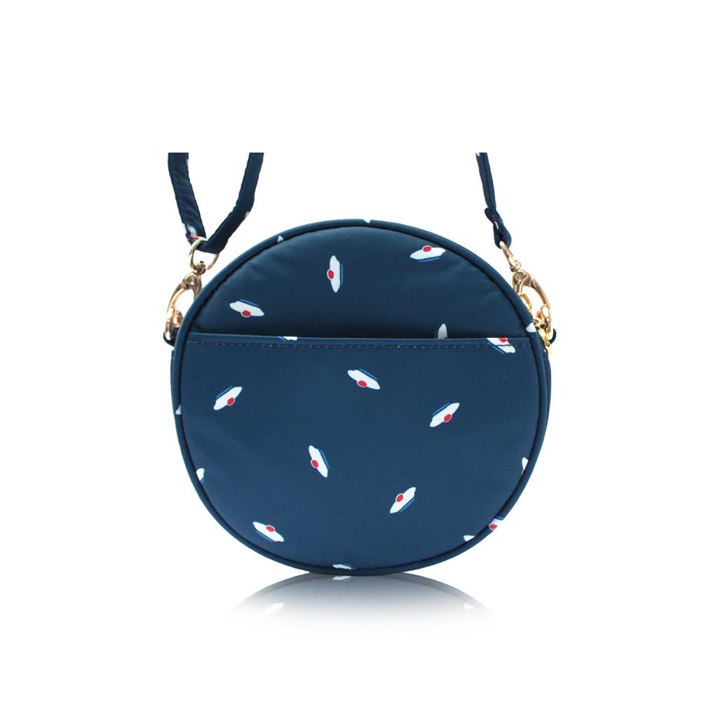 Crêpe Mini Sling - French Pom Pom - Navy