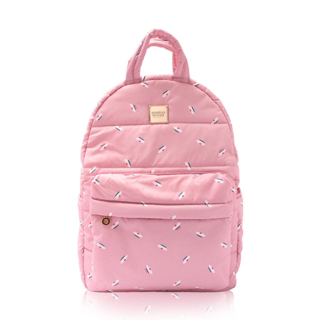 Backpack medium - French Pom Pom - Pink