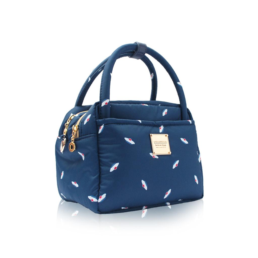 Cubic Cute 2- Way Bag - French Pom Pom - Navy