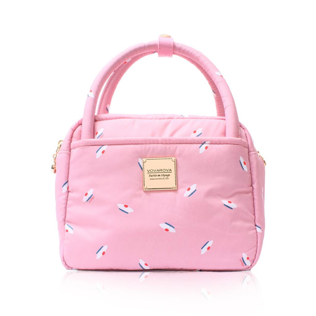 Cubic cute 2 way Bag - French Pom Pom - ApplePink