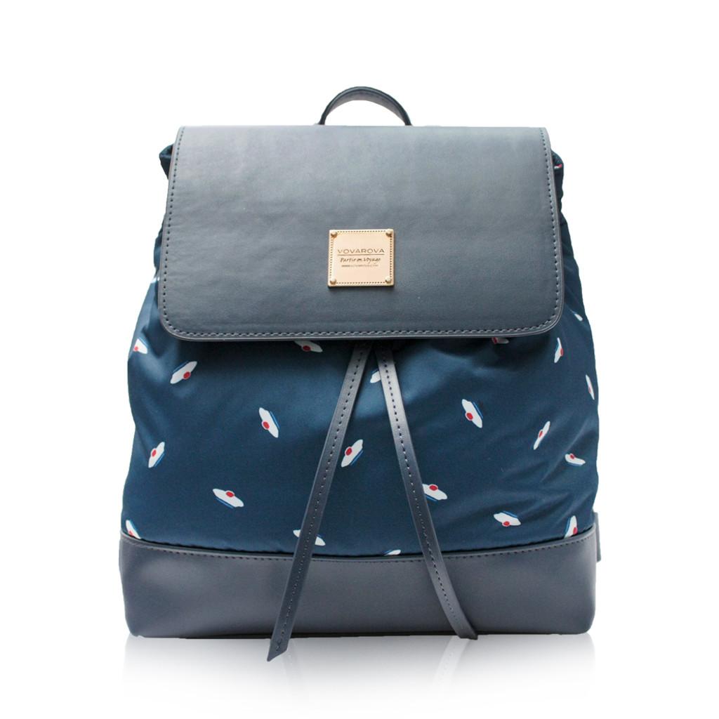 Flipped Backpack - French Pom Pom - Navy