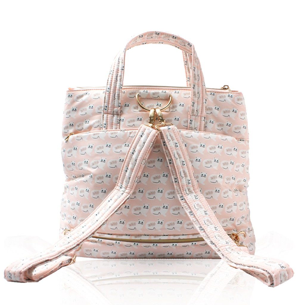 Convertible Satchel / Backpack - Miss Meow