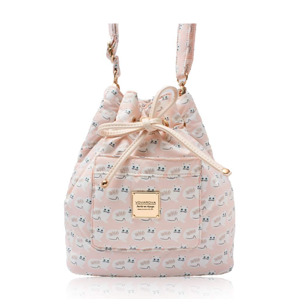 Mini Drawstring Bag - Miss Meow