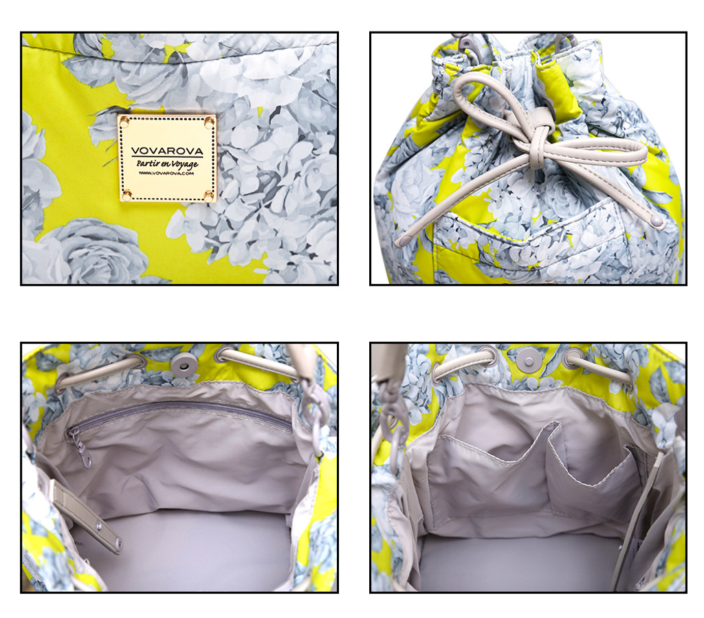 Mini Drawstring Bag - Rose Garden - Yellow