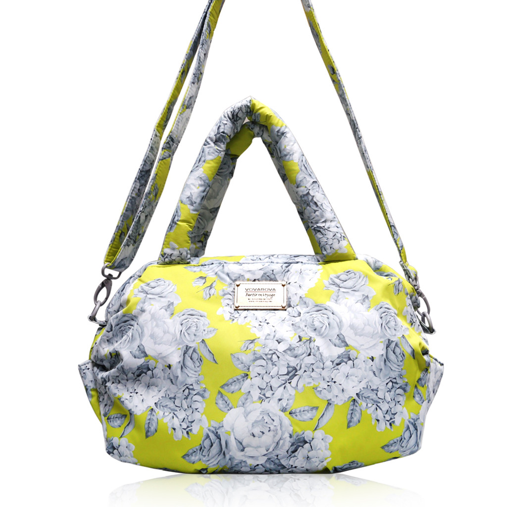 3 Way Shoulder Tote - Rose Garden - Yellow