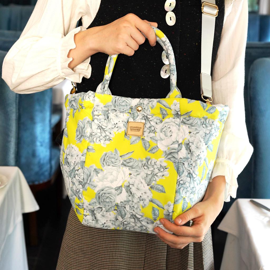 2-Way Tote Bag - Rose Garden - Yellow
