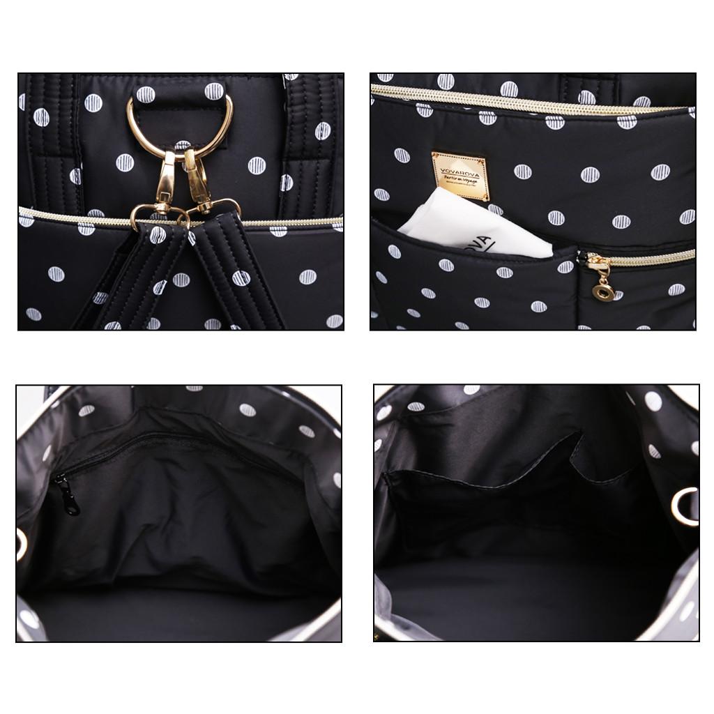 Convertible Satchel / Backpack - Stripy Dotty