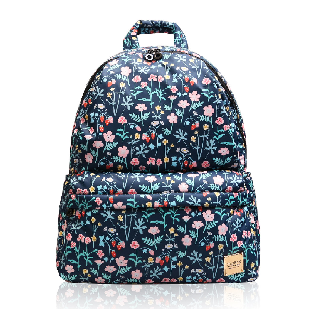 City Backpack - Strawberry Kiss - Black