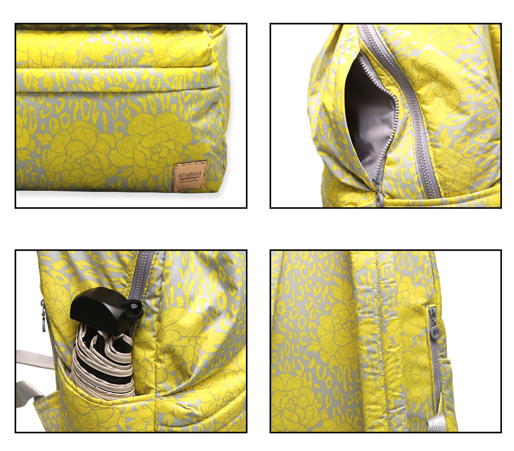 City Backpack - Rose Chic - Yellow