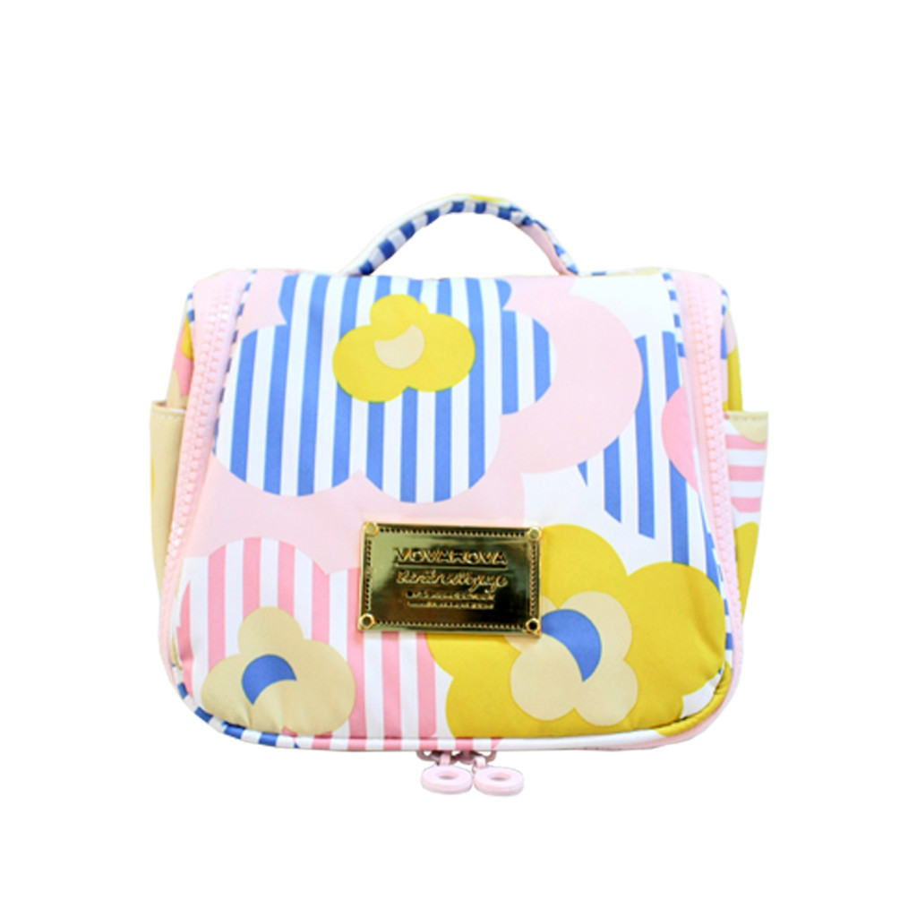 Toiletry Pouch - Striped Floral