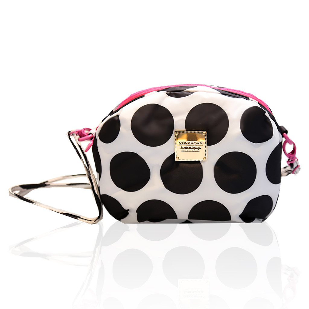 Mini Sling Bag - Polka Dot Black / White