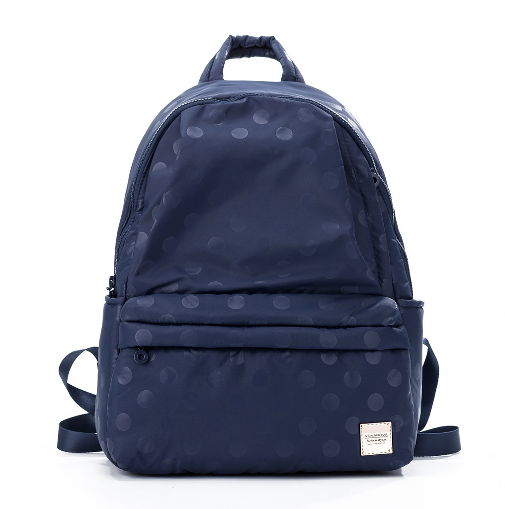 City Backpack - Shiny Dotty (Black)