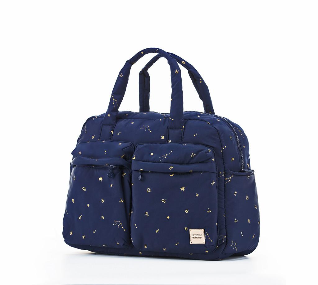 Weekender Bag - Starry Zodiac - Metallic Gold