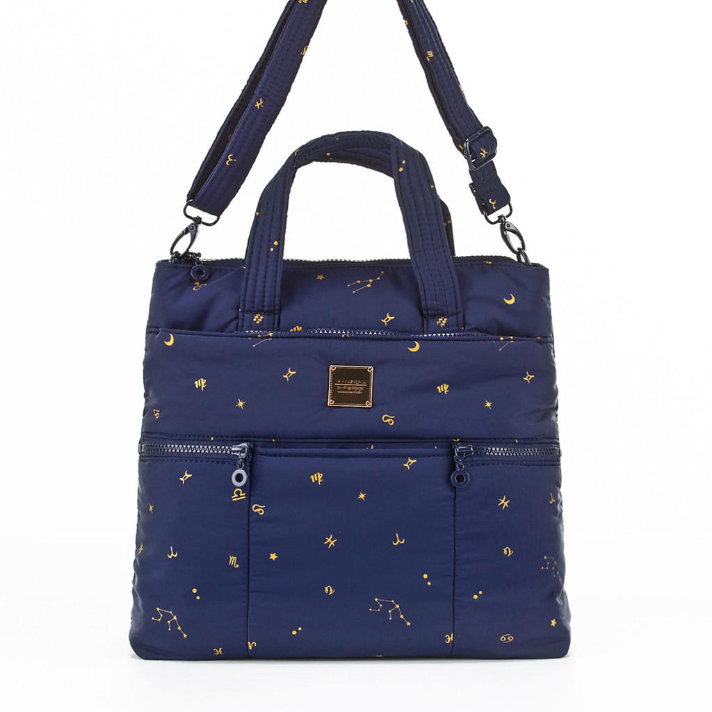 Convertible Satchel / Backpack - Starry Zodiac