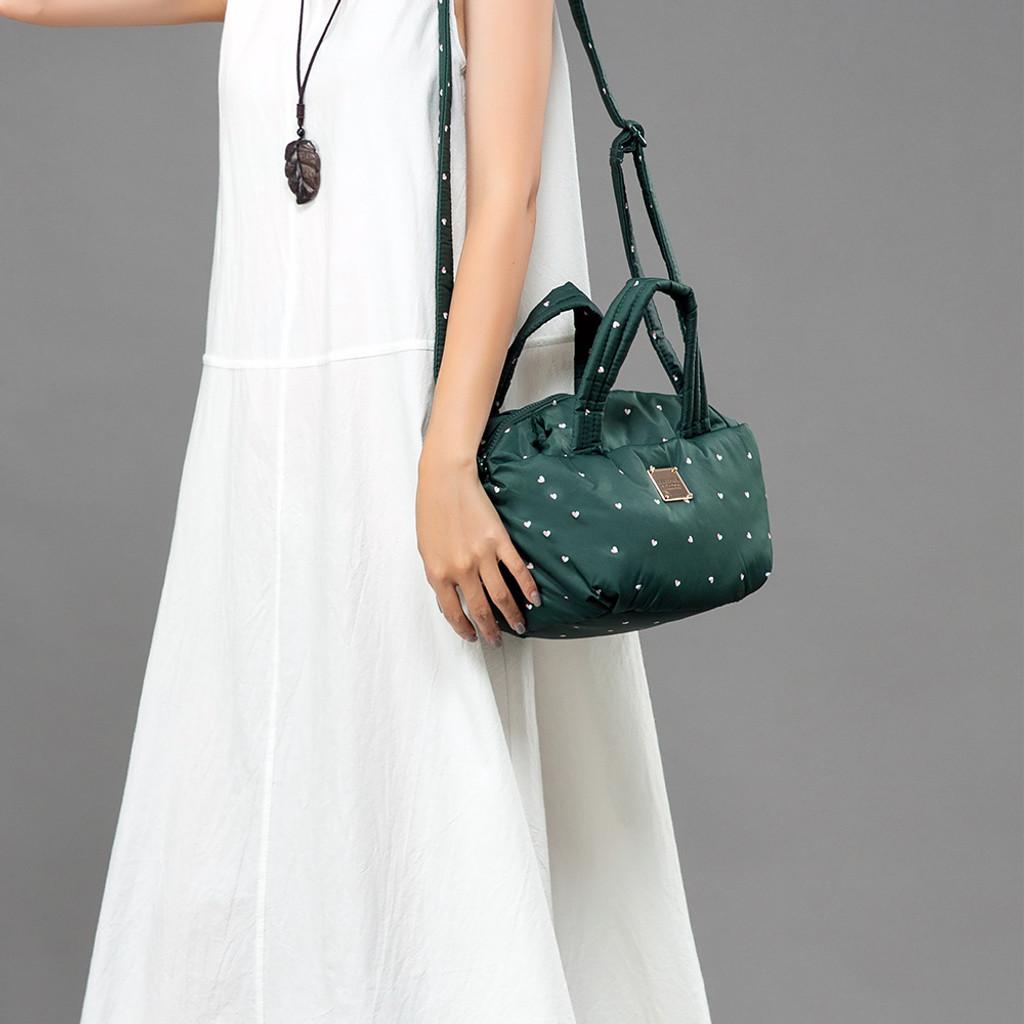 2-way Balloon Shoulder Bag - Gem of Heart - Green
