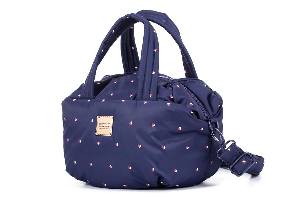 2-way Balloon Shoulder Bag - Gem of Heart - Navy