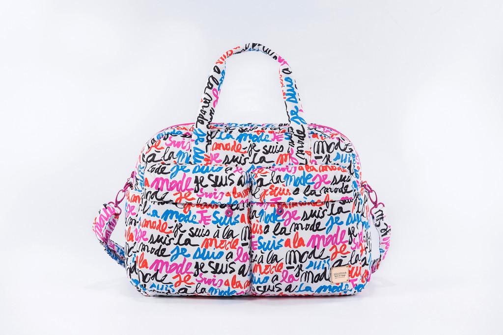 VOVAROVA Weekender Bag - Je Suis a la Mode (White)
