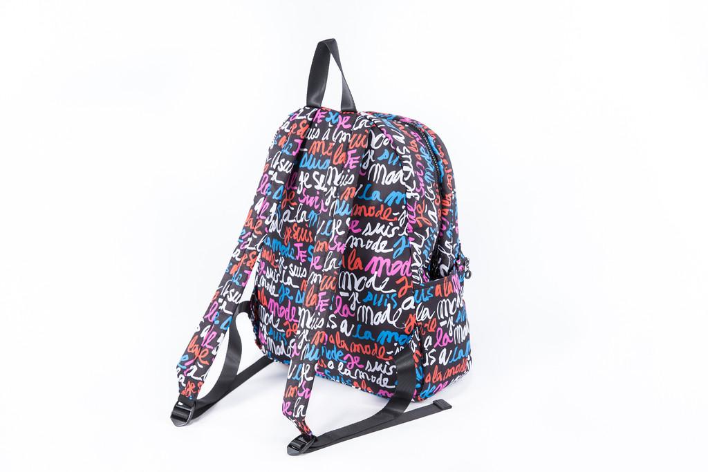 2-Zip Backpack  - I'm in Fashion (Black)