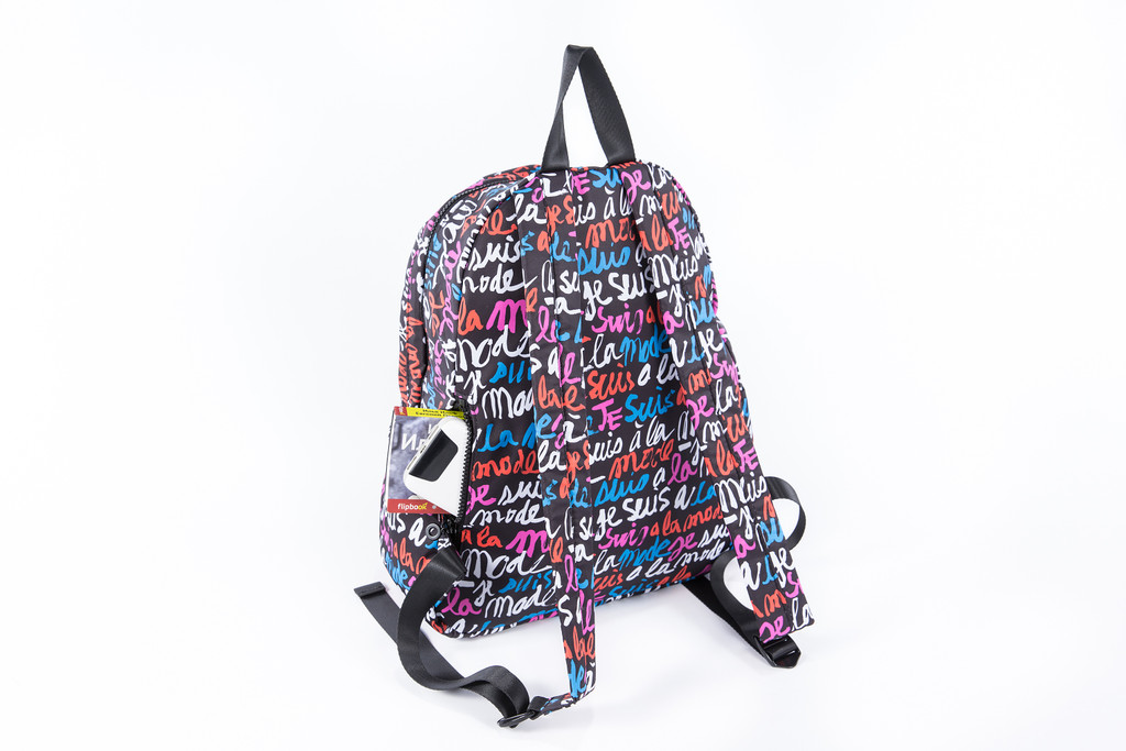 2-Zip Backpack - Je Suis a la Mode (Black)