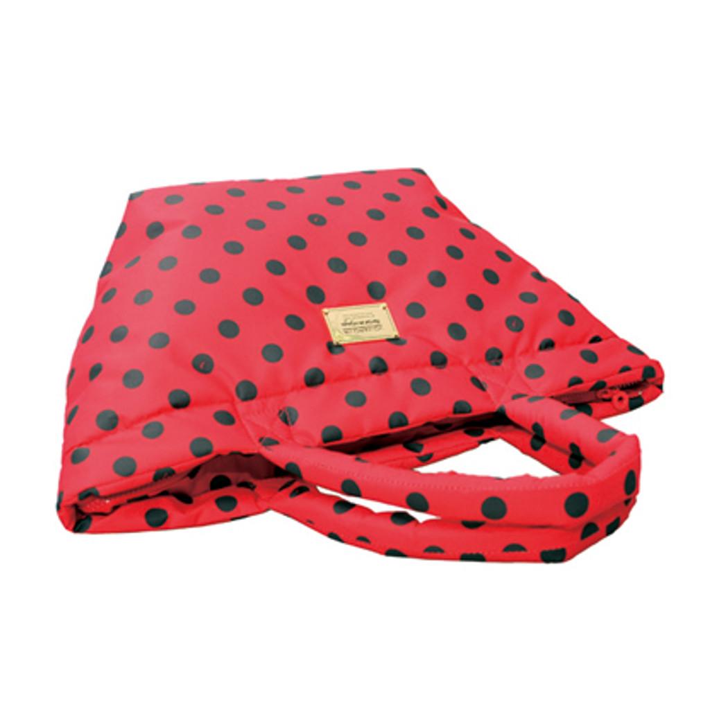 Small Tote - Dotty - Red/Black