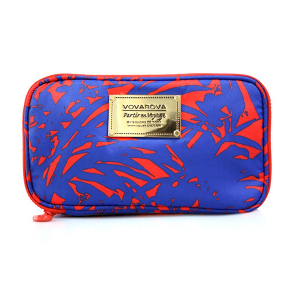 Compact Brush Case - Botanic Allure - Hot Orange