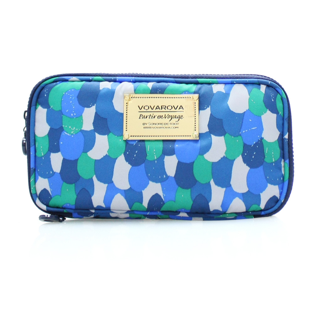 Compact Brush Case - WOVEN - GREEN