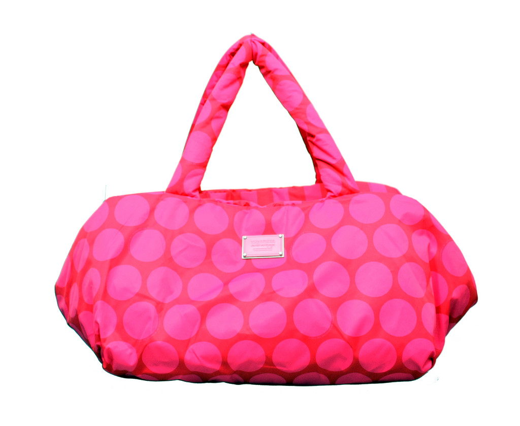 Travel Bag - PINK RED POLKA DOT