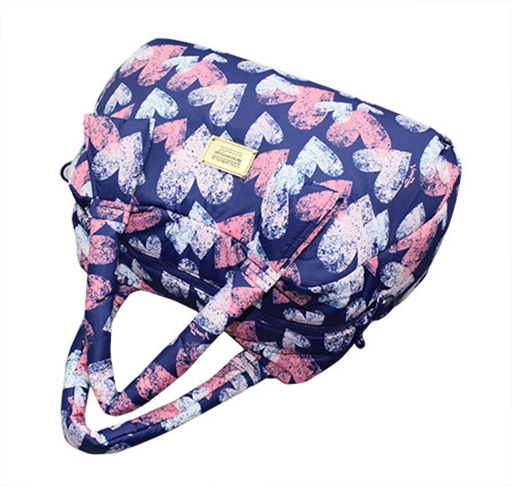 Ribbon Day Bag - Dancing Hearts - Blue