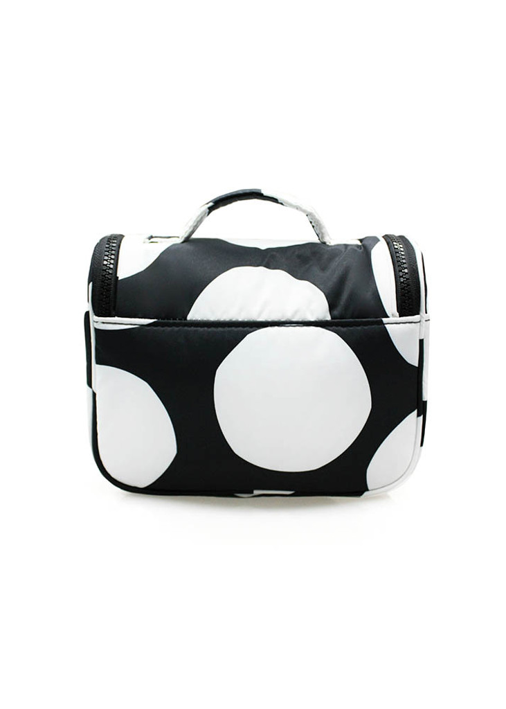 Travel Toiletry Bag - Pop Dot - Black & White