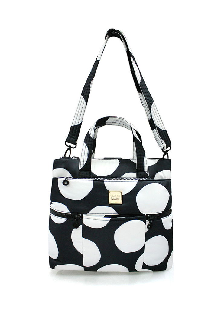 Convertible Satchel / Backpack - Pop Dot - Black & White