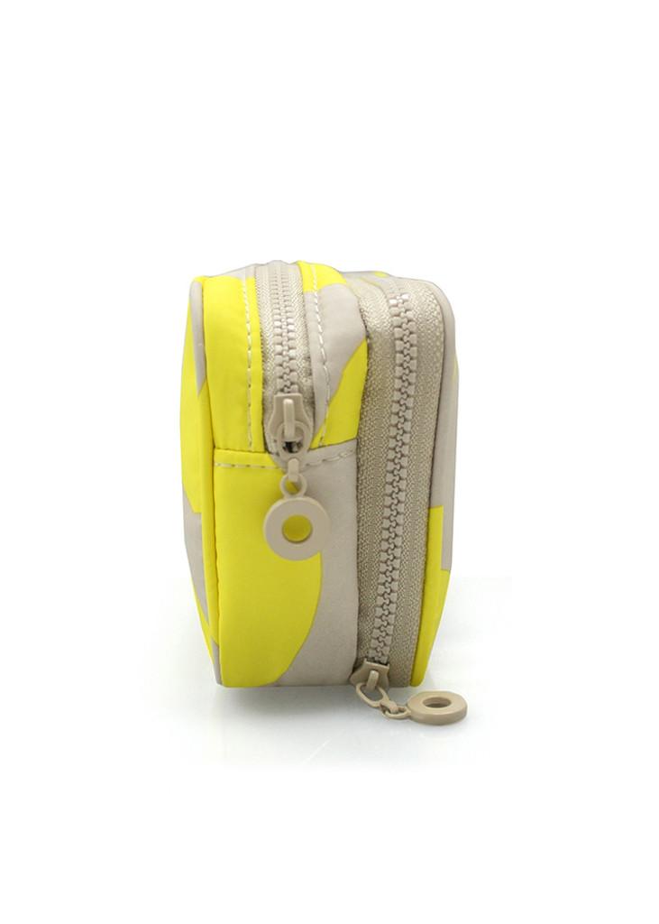Compact Brush Case - POP DOT Beige Yellow