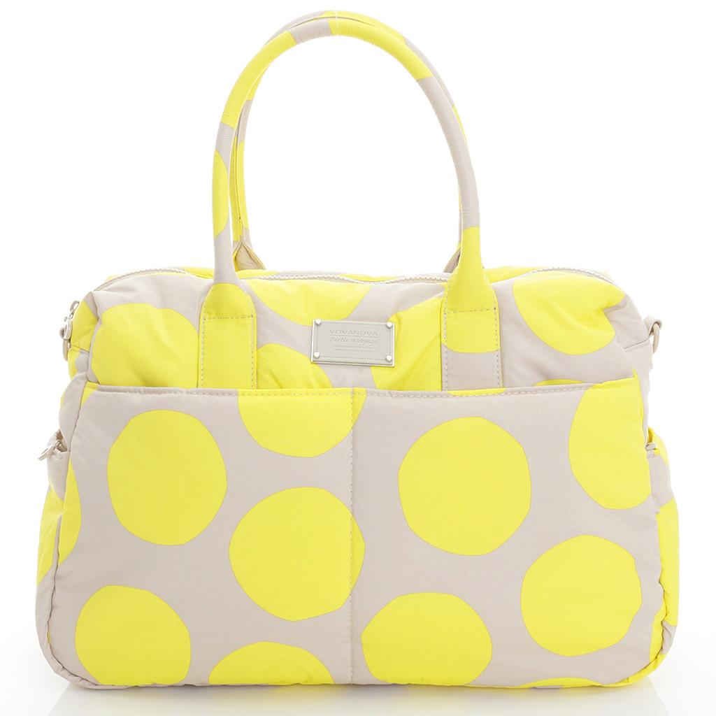 Boston Bag - POP DOT Beige Yellow