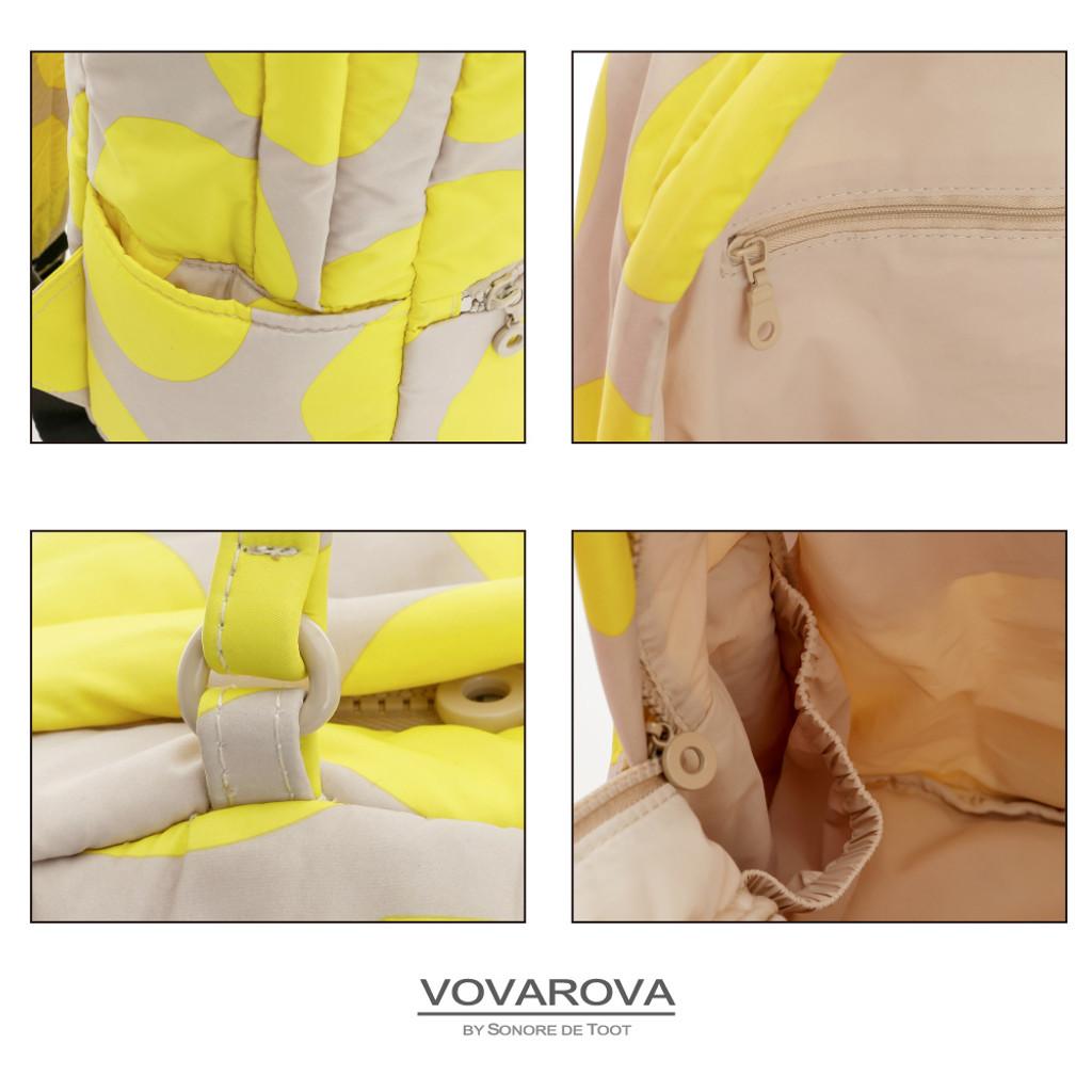 Double Handle Backpack - POP DOT Beige Yellow