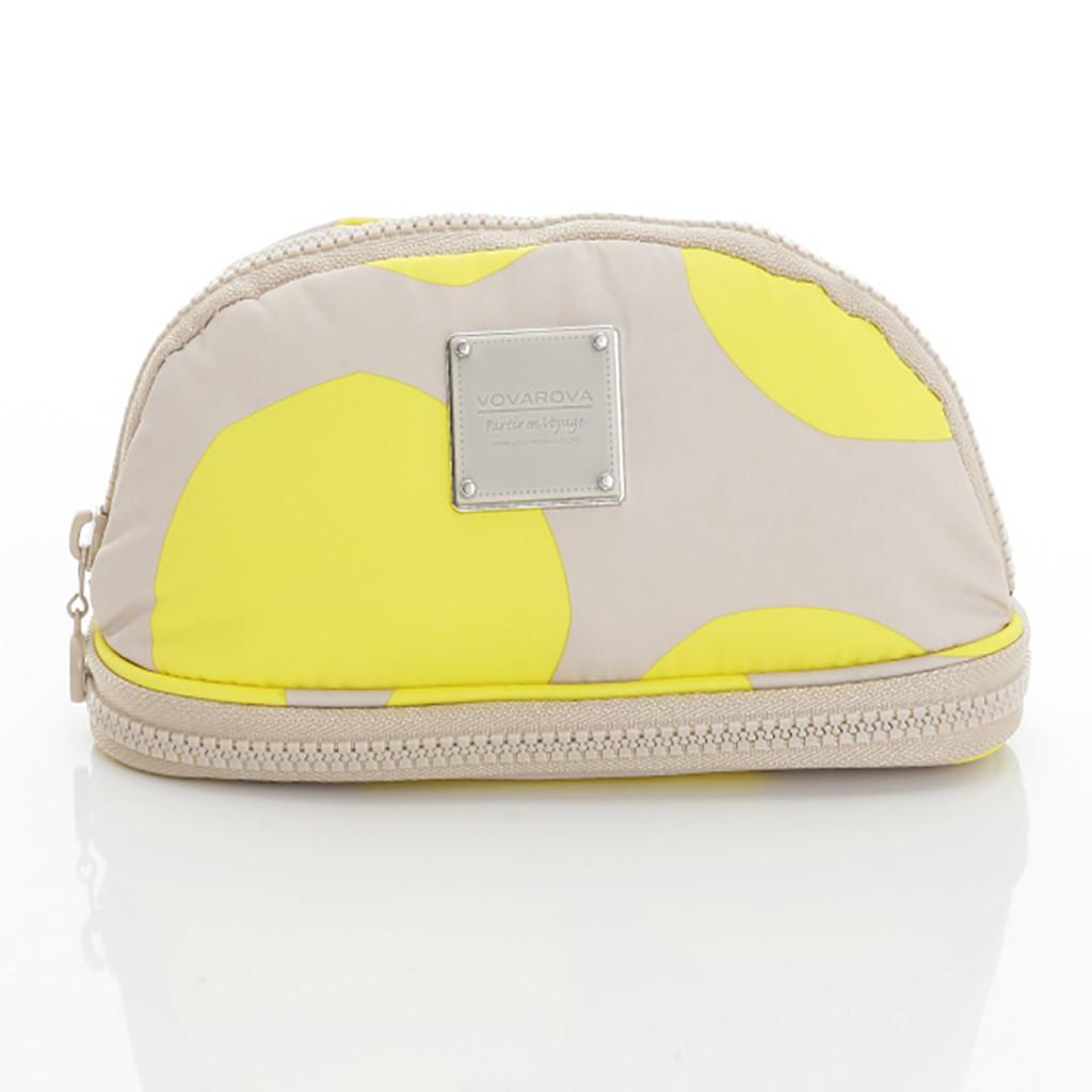 Makeup Pouch - POP DOT Beige Yellow