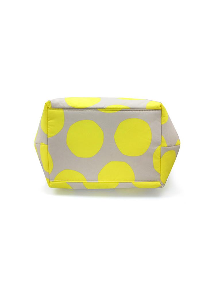 Pleat Tote - POP DOT Beige Yellow