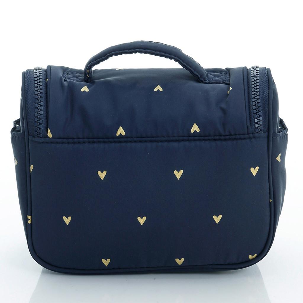 Travel Toiletry Bag - Mini Heart - Blue