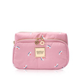 All-in-one Makeup Pouch - French Pom Pom -Apple Pink