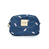 Mini cutie pouch - French Pom Pom -Navy