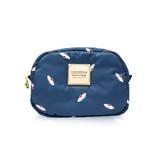 Mini cutie pouch - French Pom Pom -Navy