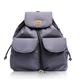 2 Way Drawstring Backpack - Grey