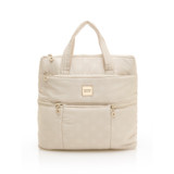 Convertible Satchel / Backpack - Shinny Dotty Beige