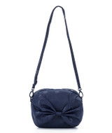 Ribbon Sling Bag - Shiny Dotty Blue