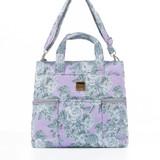 Convertible Satchel / Backpack - Rose Garden Lilac