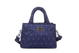 Crossbody Tote - Gem of Hearts - Navy
