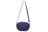 2-zip Puff Sling Bag - Gem of Heart - Navy