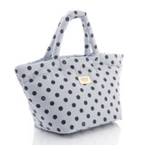 Small Tote - Dotty - Grey/Black
