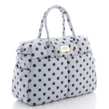 Boston Bag - Dotty - Grey/Black