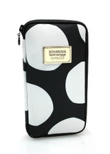 Travel Wallet - Pop Dot - Black & White
