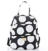 Double Handle Backpack - Pop Dot - Black & White